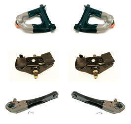 Kit de bras de suspension Mustang 67- 1967 Mustang Suspension Kit Upper & Lower Control Arms & Spring Saddles