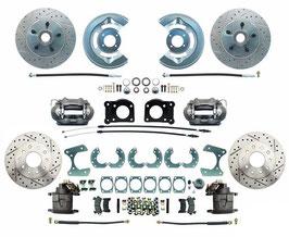 """Kit complet de conversion de frein à disque avant et arriere 67-73 - 64-73 Ford Mustang Front & Rear Disc Brake Kit 8""""/9"""""""