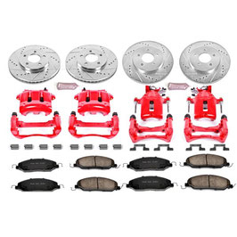 Kit complet avant + arriere haute performance 05-10 - 05-10 Mustang Caliper , Rotor and Brake Pads Kit