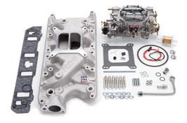 Kit collecteur d'admission et carburateur 600cfm EDELBROCK 2031 - Edelbrock 2031 SBF Ford 289-302 Ford Performer Intake & Carburetor Kit