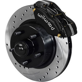 Kit de conversion de frein à disque avant WILWOOD DYNALITE - 65-69 Wilwood  Mustang DYNALITE Disc Brake Kit V8