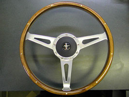 "Volant LECARRA MARK III en bois trois branches 15"" - Mustang MARK 3  STEERING WHEEL COMPLETE With ADAPTER"