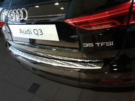 Edelstahl Ladekantenschutz für Audi Q3 II Typ F3 ab Bj. 09/2018