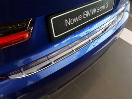 EDELSTAHL LADEKANTENSCHUTZ für BMW 3er Limousine Typ G20 nur für M Style Stoßstange ab Bj.03/2019