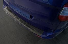 Edelstahl Ladekantenschutz schwarz eloxiert für Ford Transit Courier I / Tourneo Courier II ab 06.2014
