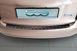 Edelstahl Ladekantenschutz Graphit Schwarz eloxiert für Fiat 500 e Elektro  3-türer ab Bj. 11/2020