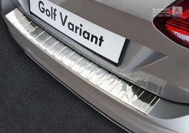Edelstahl Ladekantenschutz Stoßstangenschutz für Golf 7 Variant ab 2017 Facelift