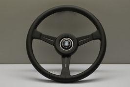 NARDI Classico ND 365mm Leder schwarz , Speichen schwarz mit KBA