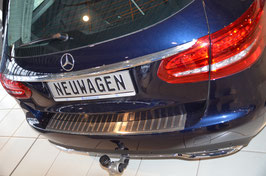 Edelstahl Ladekantenschutz für Mercedes C-Klasse T-Modell W205 Kombiab 06/2014