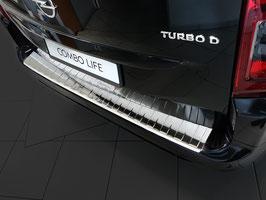 Edelstahl Ladekantenschutz für Opel Combo E Life auch XL ab Bj. 06/2018