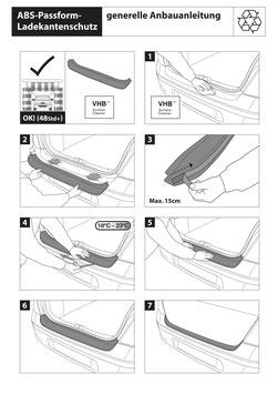 Ladekantenschutz Stoßstangenschutz für Alfa Romeo STELVIO (949)