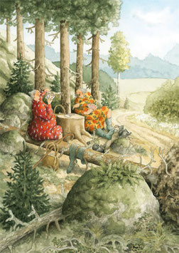 POTJE KAARTEN TIJDENS EEN WANDELING (060) - INGE LOOK: AUNTIES