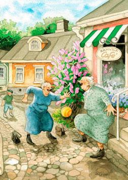 VOETBALLEN OP STRAAT (009) - INGE LOOK: AUNTIES
