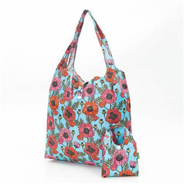 SHOPPER POPPIES TEAL - ECO CHIC