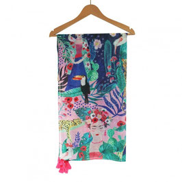 FRIDA KAHLO  TROPICAL SCARF - HOUSE OF DISASTER