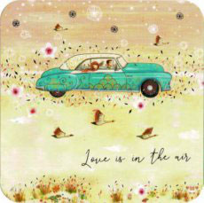 BAR163 KAART 'LOVE IS IN THE AIR VLIEGENDE AUTO' - JEHANNE WEYMAN