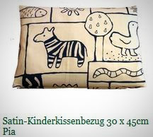 Kinderkissenbezüge 30x45cm, Baumwollsatin (kbA) und Flanell (kbA)