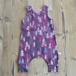 Bio Romper - into the woods pink