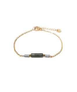 Jade tube bracelet gold
