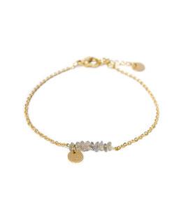 Labradorite bracelet gold