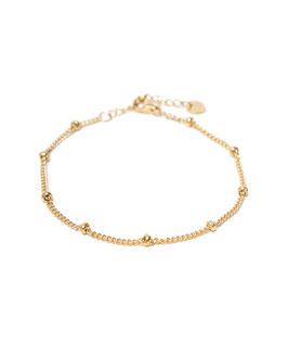 Dot chain bracelet gold