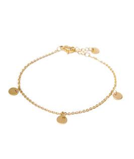 Label bracelet gold
