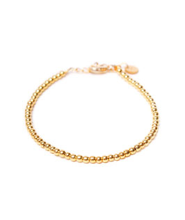 Round ball bracelet gold