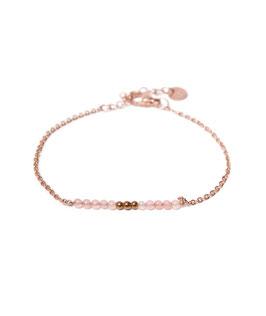 Pink quartz bracelet rosegold