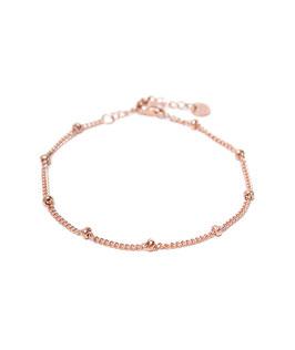 Dot chain bracelet rosegold