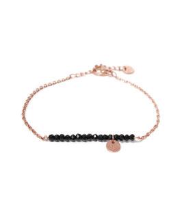 Black stone bracelet rosegold