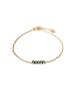 Hematite bracelet gold