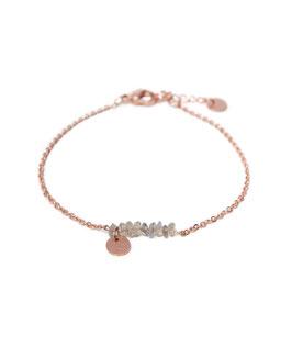 Labradorite bracelet rosegold