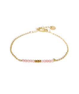 Pink quartz bracelet gold