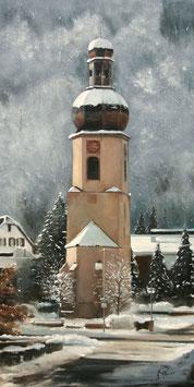 Schramberg Kirchturm St. Maria im Winter