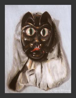 Katzenmaske schwarz Hardt, Miniatur-Bild