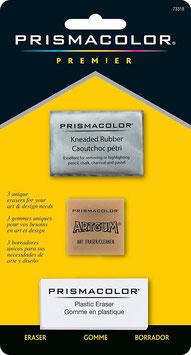 Prismacolor blister met 3 gummen