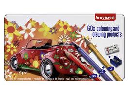 Bruynzeel Super Sixties Keverblik Kleurpotloden - 60 stuks
