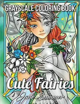 Jade Summer - Cute Fairies Grayscale