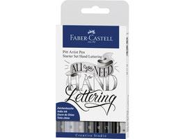 Faber Castell Pitt Artist Pen Handlettering 8-delig basisetui