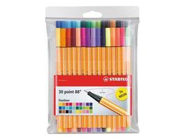 Stabilo Fineliner Point 88 - 30 stuks inclusief 5x neon
