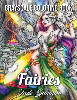 Jade Summer - Fairies Grayscale
