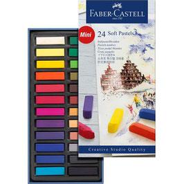 Pastelkrijt Faber Castell - 24 stuks soft pastel