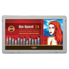 AANBIEDING: Koh-I-Noor Wax Aquarell - 24 stuks