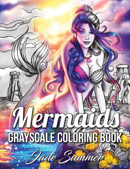 Jade Summer - Mermaids Grayscale