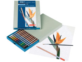 Bruynzeel Design Aquarel Box - 12 aquarelpotloden