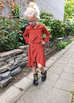 Autumn dress roest bruin