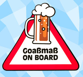 Goaßmaß on Board - Aufkleber