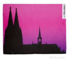 Reinigungstuch Kölner Dom pink