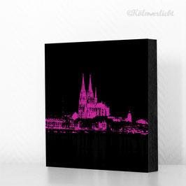 Skyline pink auf schwarz - reduziert