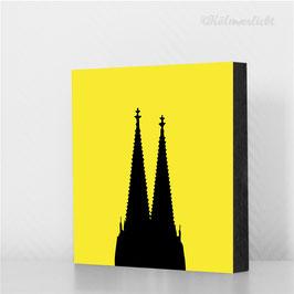 Dom schwarz auf gelb - reudziert